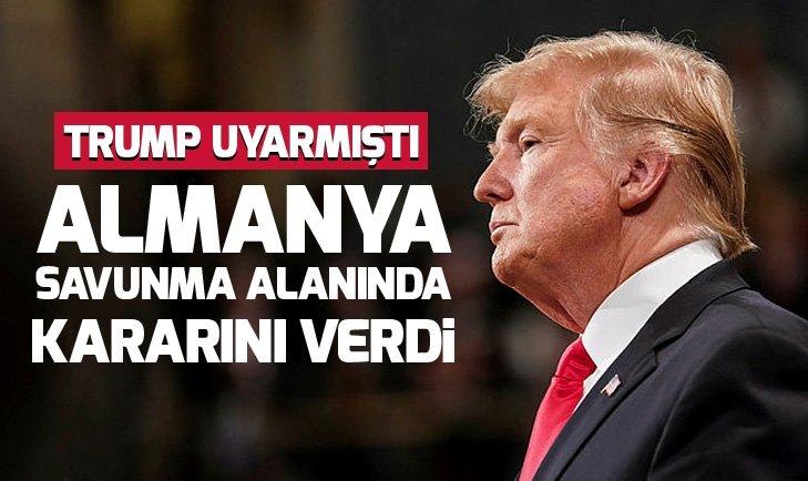 TRUMP UYARMIŞTI! ALMANYA'DAN SAVUNMA KARARI...