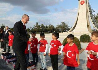 Başkan Erdoğan'ı Külliye yolunda böyle karşıladılar