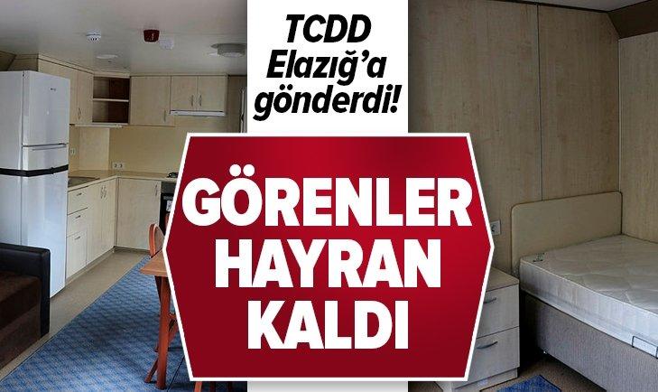TCDD'NİN YARDIM TRENİ ELAZIĞ'DA! İŞTE O GÖRÜNTÜLER