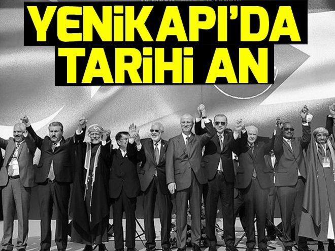 YENİKAPI'DA GAZZE KATLİAMINA PROTESTO MİTİNGİ
