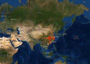 Koronavirüsünün görüldüğü ve riskli olan yerler! Korkutan harita...