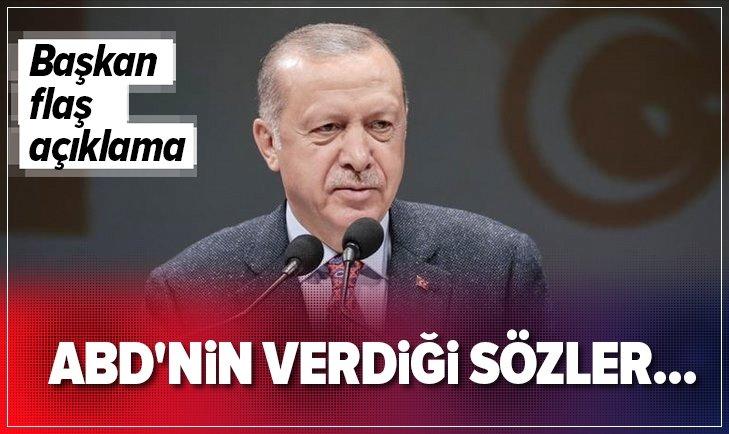 BAŞKAN ERDOĞAN'DAN 'GÜVENLİ BÖLGE' AÇIKLAMASI