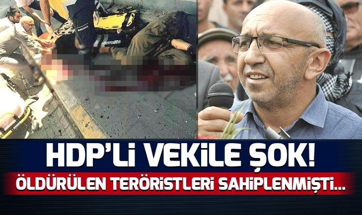 HDP'Lİ VEKİLE ŞOK! ÖLDÜRÜLEN TERÖRİSTLERİ SAHİPLENMİŞTİ...
