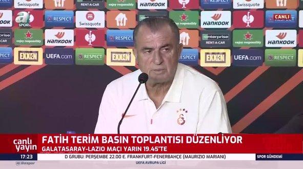 Fatih Terim'den Lazio maçı öncesi flaş açıklamalar