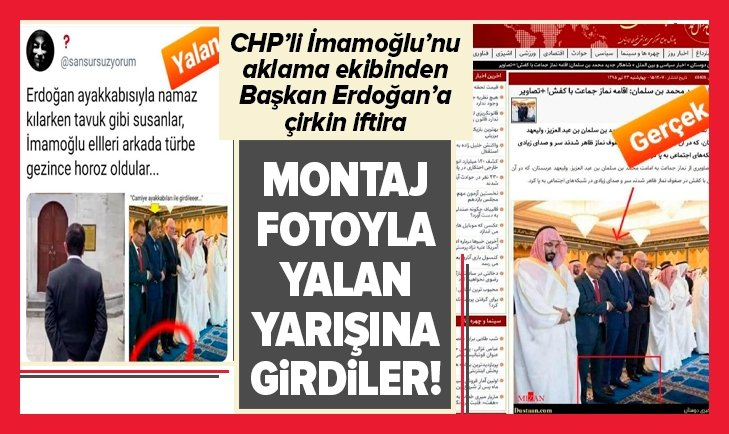 CHP'li İmamoğlu'nu aklama ekibinden Başkan Erdoğan'a çirkin iftira