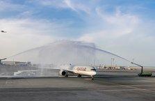 Dünyanın en güçlü uçağı Airbus A350-1000 Katar'da