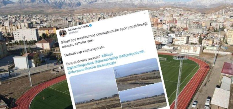 CHP'li Mahmut Tanal'ın 'Silopi'de çocukların spor yapabileceği alan yok' iddiasına görüntülerle yalanlama