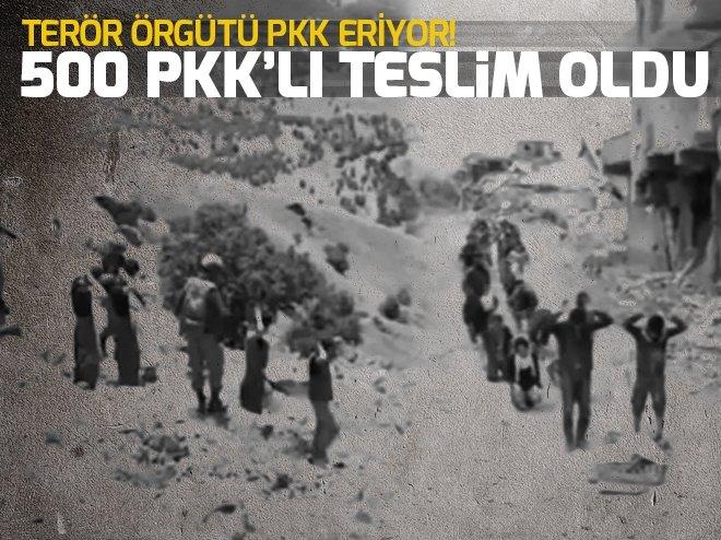 500 PKK'LI TESLİM OLDU! ARANA 235 PKK'LI ÖLDÜRÜLDÜ