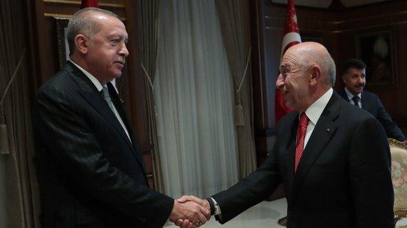Erdoğan, Nihat Özdemir'i kabul etti
