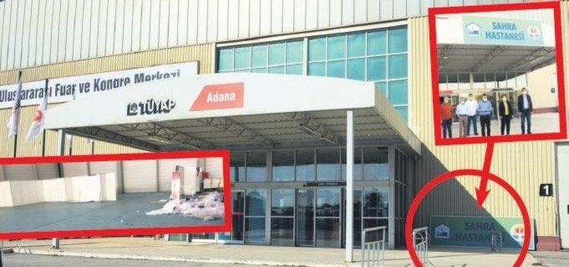 CHP'nin Adana'daki sözde Sahra Hastanesi bakın ne hale geldi!
