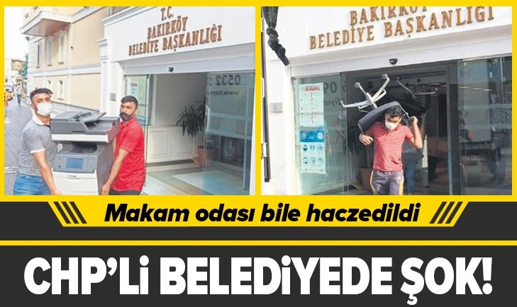 CHP'li belediyede şok! Makam odası bile haczedildi