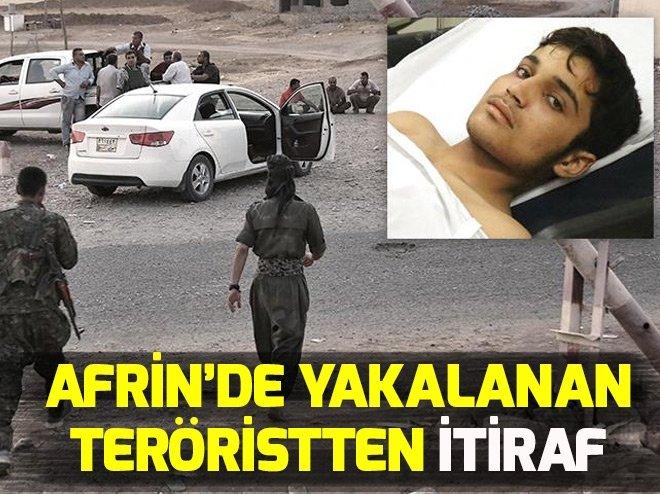 AFRİN'DE YAKALANAN YPG/PKK'LI TERÖRİSTTEN İTİRAF!