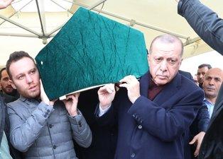 Başkan Erdoğan aile dostunun cenaze namazına katıldı