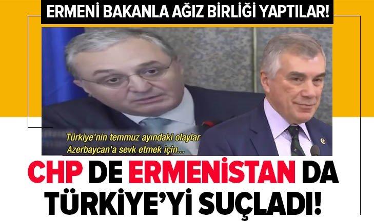 Son dakika: CHP de Ermenistan da Türkiye'yi suçladı! CHP'li Ünal Çeviköz ile Ermeni Bakan ağız birliği yaptı