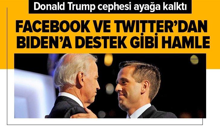 Facebook ve Twitter'dan Biden'a destek niteliğinde hamle
