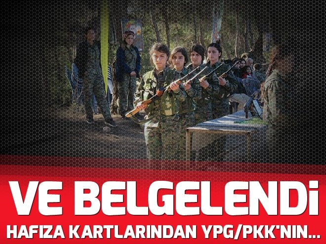 HAFIZA KARTLARINDAN YPG/PKK'NIN...