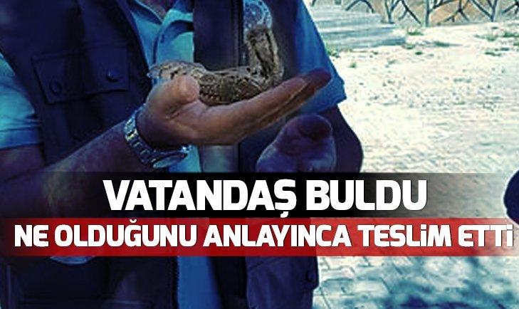 VATANDAŞ BULDU! HEMEN TESLİM ETTİ...