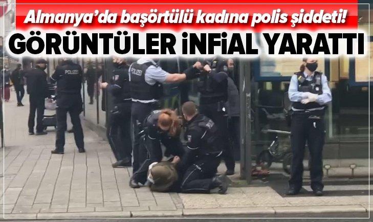 Almanya'da başörtülü kadına karşı polis şiddeti!