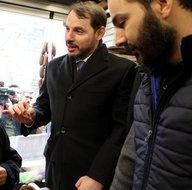Bakan Berat Albayrak'tan Kayseri'de esnaf ziyareti! İnşallah daha da düşecek