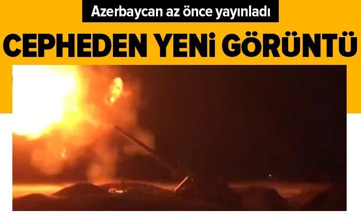 Azerbaycan yayınladı! Cepheden yeni görüntü!