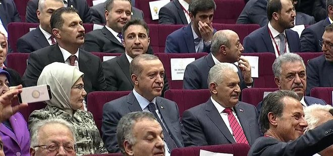 CUMHURBAŞKANI ERDOĞAN 979 GÜN SONRA AK PARTİ'DE