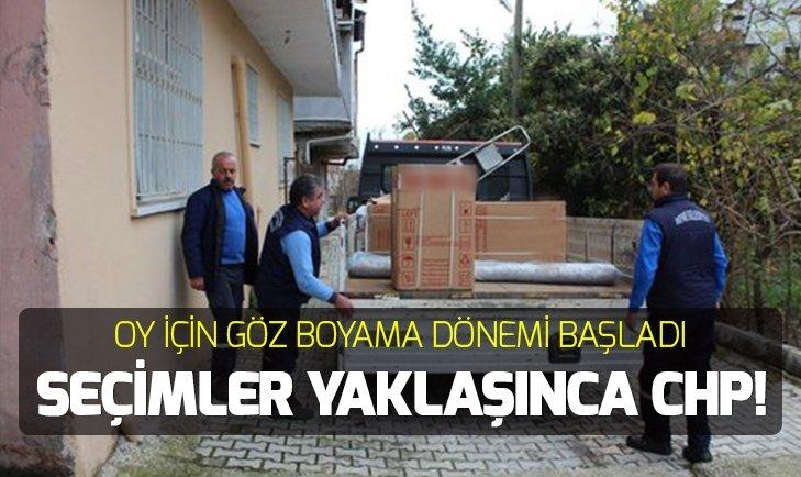 CHP'Lİ BELEDİYEDEN SEÇİM RÜŞVETİ!