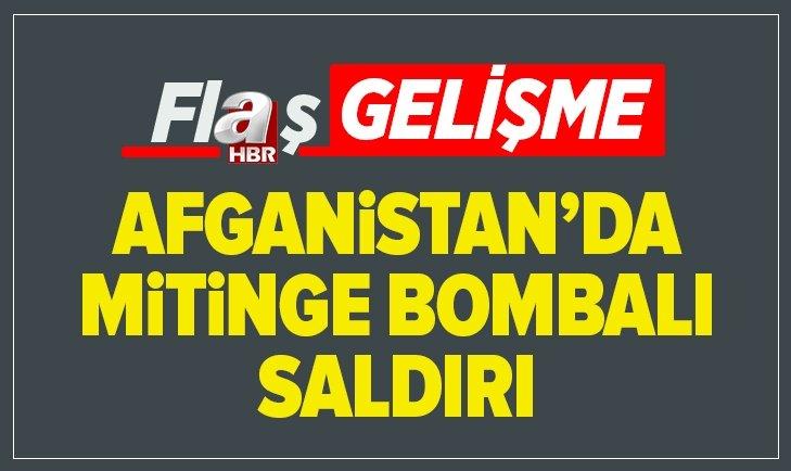 AFGANİSTAN'DA CUMHURBAŞKANI GANİ'NİN MİTİNGİNE BOMBALI SALDIRI