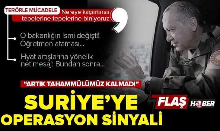 Kabine Toplantısı sonrasında Başkan Erdoğan'dan son dakika açıklamaları! Suriye'ye yeni operasyon sinyali! Öğretmenlere atama müjdesi...