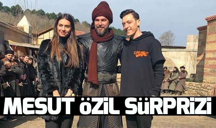 Diriliş Ertuğrul setine Mesut Özil sürprizi