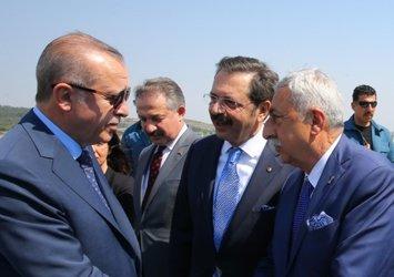 Başkan Recep Tayyip Erdoğan, TESK Genel Başkanı Bendevi Palandöken'i kabul etti