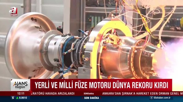 Yerli ve milli füze motoru dünya rekoru kırdı