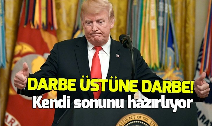 TRUMP'A ŞOK ÜSTÜNE ŞOK! BİR DARBE DAHA GELDİ, ARTIK SONU YAKIN...