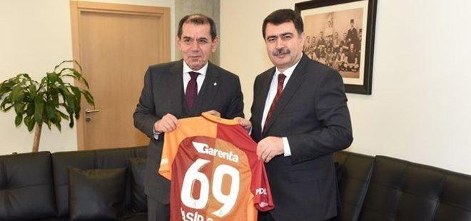 VALİ ŞAHİN'DEN G.SARAY BAŞKANI ÖZBEK'E ZİYARET