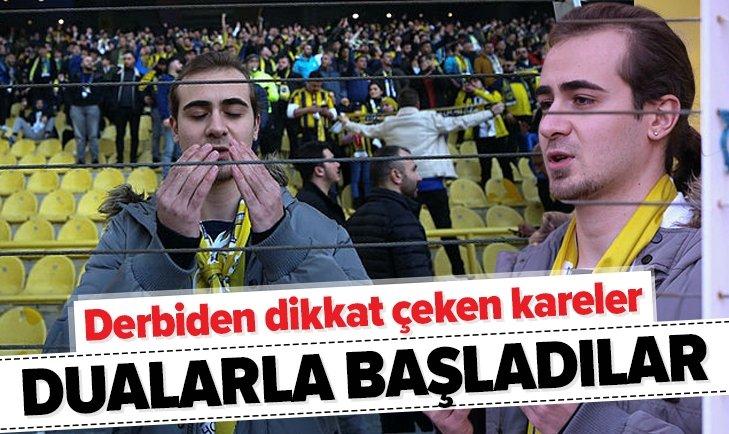 FENERBAHÇE - GALATASARAY DERBİSİNDEN İLGİNÇ KARELER!