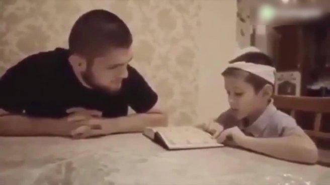 Şampiyon boksörden minik çocuğa Kur'an dersi