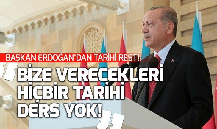 BAŞKAN ERDOĞAN'DAN ERMENİSTAN'A TARİHİ REST!