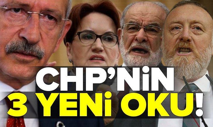 CHP'nin 6 oku hedefinden saptı! 3 yeni ok daha ekledi İşte o yeni 3 ok: Saadet, İy Parti ve HDP...