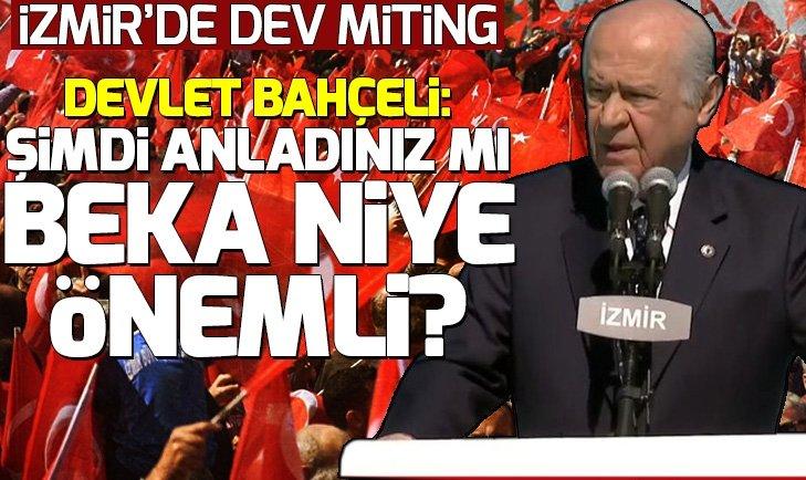 Bahçeli: İzmir'i hiç kimse çantada keklik görmesin