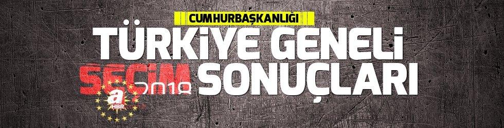 Son dakika haberi: Cumhurbaşkanlığı seçim sonuçları! Türkiye Geneli Cumhurbaşkanı seçim sonuçları