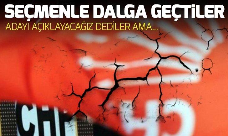 CHP'den dalga geçer gibi aday açıklaması