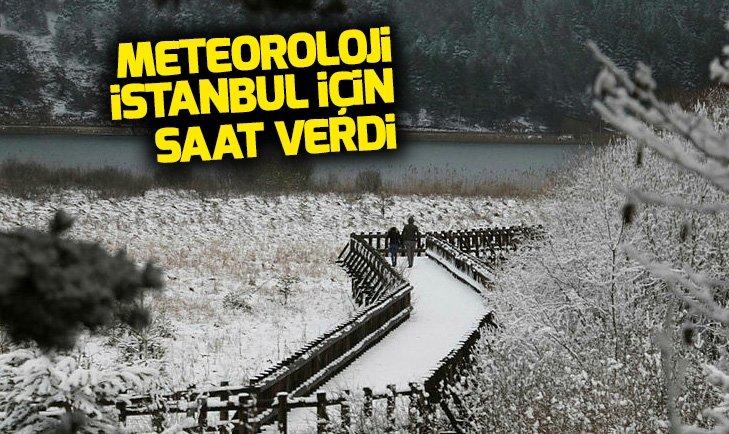 İSTANBUL'A KAR GELİYOR