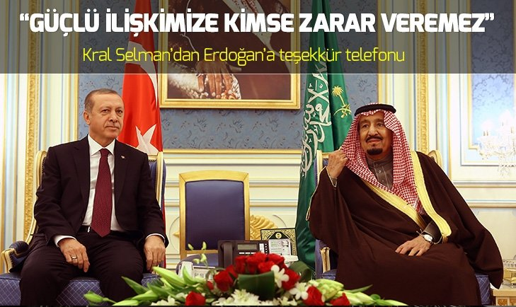 KRAL SELMAN'DAN BAŞKAN ERDOĞAN'A SUUDİ GAZETECİ TELEFONU