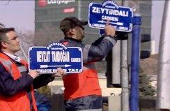 ABD Büyükelçiliği'nin olduğu sokağın adı Zeytin Dalı oldu