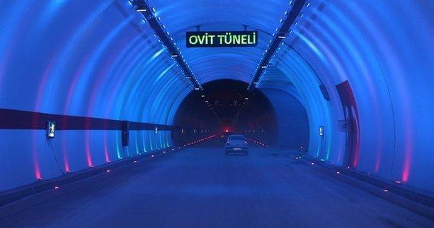 Ovit Tüneli ulaşıma açıldı