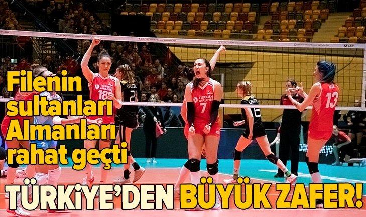 A Milli Kadın Voleybol Takımı'ndan büyük zafer!