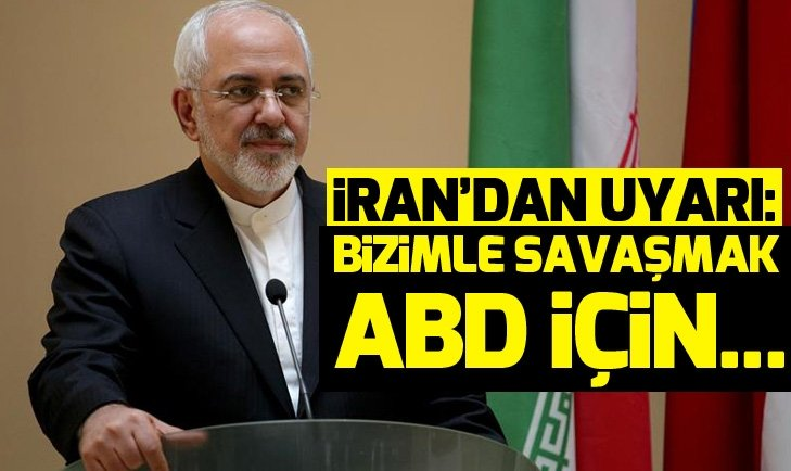 Cevad Zarif: İran'la savaşmak ABD için intihar olur