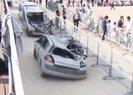 FETÖ üyesi darbeci askerlerin ezdiği araçlar Atatürk Havalimanı'nda sergilendi |Video