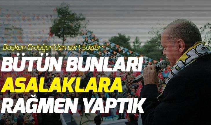 ERDOĞAN'DAN SİİRT MİTİNGİNDE FLAŞ AÇIKLAMALAR