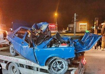 Bursa'da feci kaza! Aşırı sürat sonu oluyordu