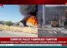 İzmir Bornova'daki palet fabrikasında yangın! A Haber olay yerinde  Video